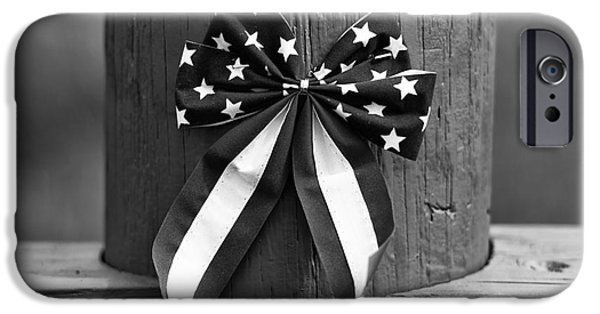 4th July Photographs iPhone Cases - 4th of July mono iPhone Case by John Rizzuto