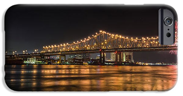July iPhone Cases - 4th of July Over The Big Easy Part Deaux iPhone Case by David Morefield
