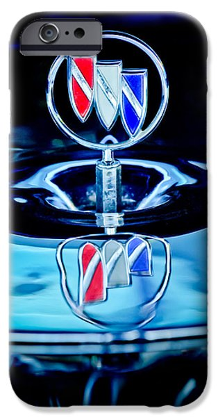 1956 iPhone Cases - 1956 Buick Special Hood Ornament iPhone Case by Jill Reger