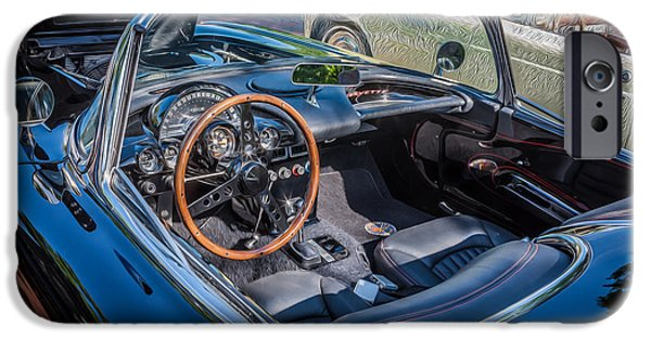 Nineteen iPhone Cases - 1959 Chevy Corvette Convertible Painted  iPhone Case by Rich Franco