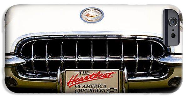 Automotive iPhone Cases - 1959 Chevy Corvette iPhone Case by David Patterson