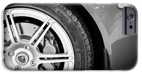 2005 iPhone Cases - 2005 Lotus Elise Wheel Emblem iPhone Case by Jill Reger