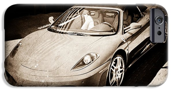 2007 iPhone Cases - 2007 Ferrari F430 Spider F1 iPhone Case by Jill Reger