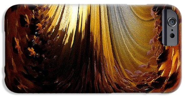 Asymmetrical iPhone Cases - African Moon Abstract iPhone Case by J McCombie