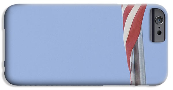 Old Glory iPhone Cases - American Flag iPhone Case by Brandy McKnight