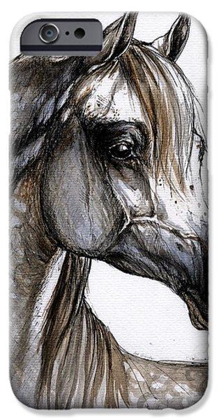 Arab iPhone Cases - Arabian Horse iPhone Case by Angel  Tarantella