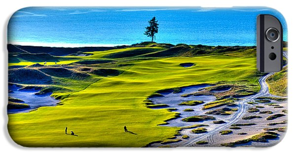 Us Open iPhone Cases - #5 at Chambers Bay Golf Course - Location of the 2015 U.S. Open Tournament iPhone Case by David Patterson