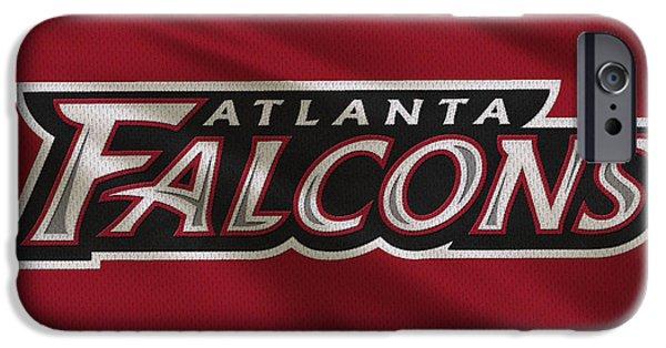 Falcon iPhone Cases - Atlanta Falcons Uniform iPhone Case by Joe Hamilton