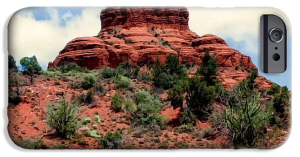 Oak Creek Paintings iPhone Cases - Bell Rock Vortex Painting iPhone Case by  Bob and Nadine Johnston