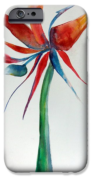 Botanical Drawings iPhone Cases - Bird of Paradise iPhone Case by Mindy Newman