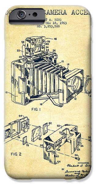 Recently Sold -  - Technical iPhone Cases - Camera Patent Drawing From 1963 iPhone Case by Aged Pixel