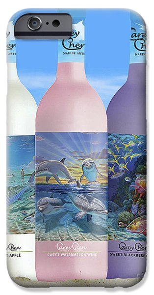 Beach Glass iPhone Cases - Carey Chen fine art wines iPhone Case by Carey Chen