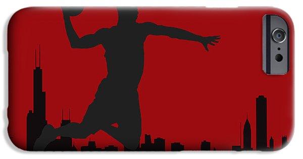 Derrick Rose iPhone Cases - Chicago Bulls iPhone Case by Joe Hamilton