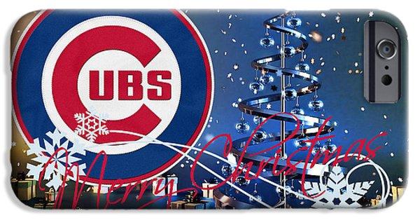 Chicago Cubs iPhone Cases - Chicago Cubs iPhone Case by Joe Hamilton