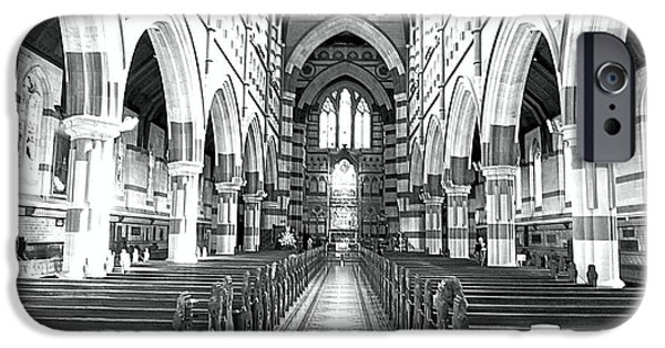 Church Pyrography iPhone Cases - Church iPhone Case by Girish J