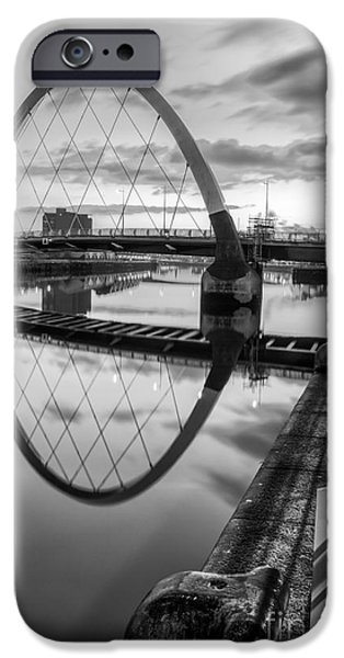 Clyde Arc Squinty Bridge iPhone Case by John Farnan
