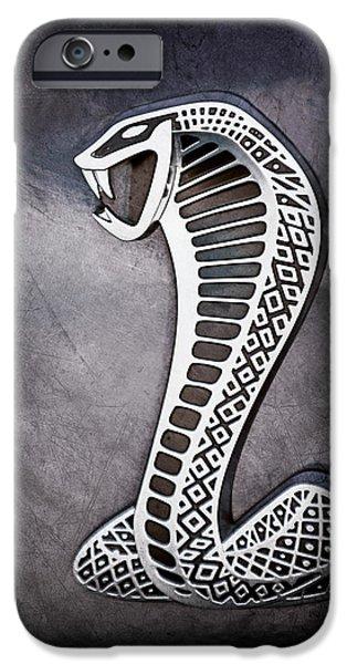 Cobra iPhone Cases - Cobra Emblem iPhone Case by Jill Reger