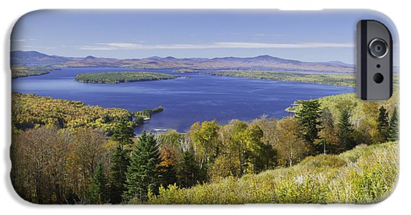 Fall In New England iPhone Cases - Colorful Fall Forest Near Rangeley Maine iPhone Case by Keith Webber Jr