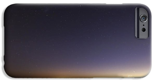 Constellations iPhone Cases - Comet Panstarrs At Twilight,  Buenos iPhone Case by Luis Argerich