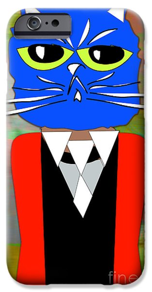 Cat iPhone Cases - Cool Cat iPhone Case by Marvin Blaine