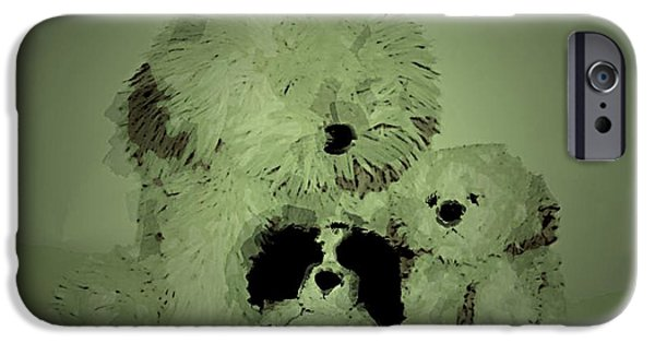 Decor Ceramics iPhone Cases - Doggys iPhone Case by Michael James Greene