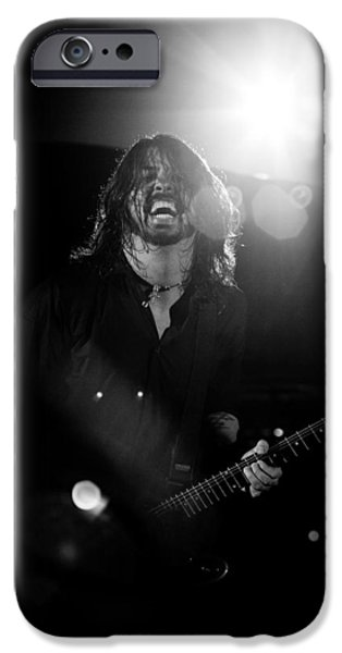 Dave Grohl iPhone Cases - Foo Fighters iPhone Case by Ben James