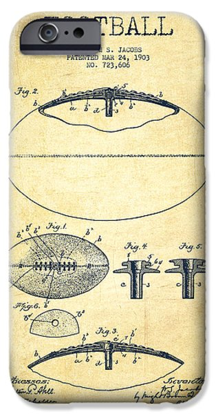 Technical iPhone Cases - Football Patent Drawing from 1903 iPhone Case by Aged Pixel