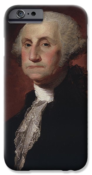 White House iPhone Cases - George Washington iPhone Case by Gilbert Stuart