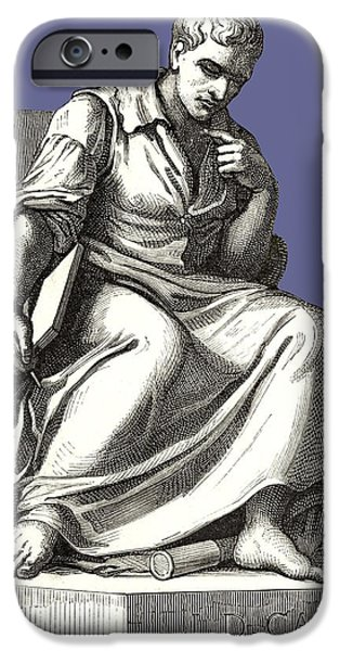 Statue Portrait iPhone Cases - Giovanni Cassini, Italian Astronomer iPhone Case by Sheila Terry