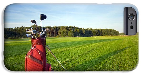 Golf Course iPhone Cases - Golf gear iPhone Case by Michal Bednarek