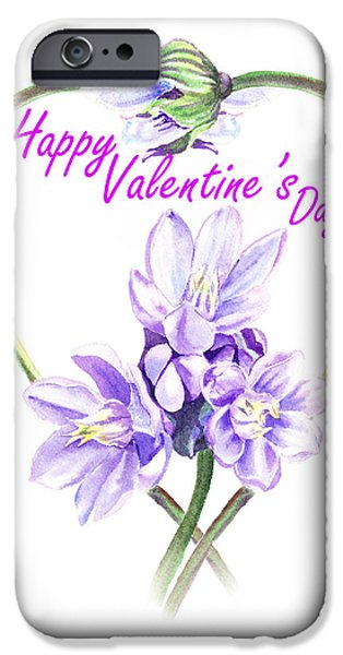 Red Letter Days iPhone Cases - Happy Valentines Day iPhone Case by Irina Sztukowski