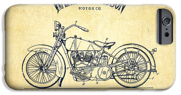 Recently Sold -  - Antiques iPhone Cases - Harley Davidson Motorcycle Cycle Support Patent Drawing From 192 iPhone Case by Aged Pixel