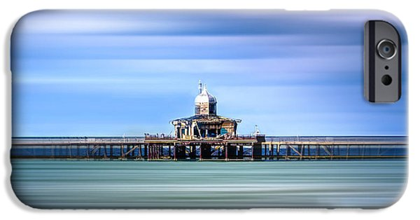 Ruin iPhone Cases - Herne Bay pier iPhone Case by Ian Hufton