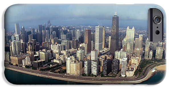 Lake Shore Drive iPhone Cases - High Angle View Of Buildings iPhone Case by Panoramic Images