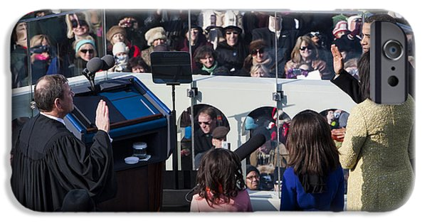 Michelle Obama Photographs iPhone Cases - Inauguration iPhone Case by JP Tripp