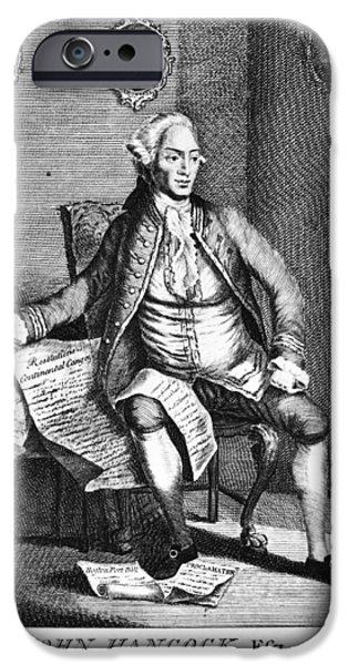 Patriots iPhone Cases - John Hancock (1737-1793) iPhone Case by Granger