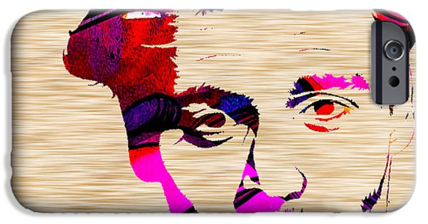 Alice In Wonderland iPhone Cases - Johnny Depp iPhone Case by Marvin Blaine