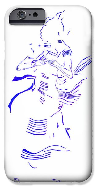 Jesus Drawings iPhone Cases - Kiganda dance- Uganda iPhone Case by Gloria Ssali