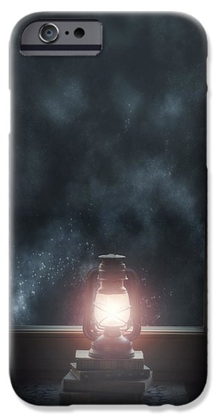 Night Lamp iPhone Cases - Lantern iPhone Case by Joana Kruse