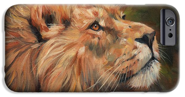 Recently Sold -  - David iPhone Cases - Lion iPhone Case by David Stribbling