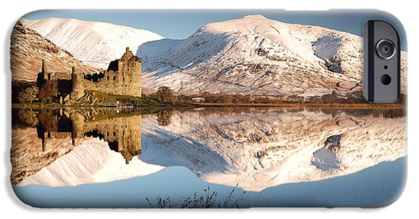 Ruin iPhone Cases - Loch Awe iPhone Case by Grant Glendinning
