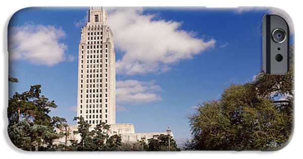 Baton Rouge iPhone Cases - Low Angle View Of A Government iPhone Case by Panoramic Images