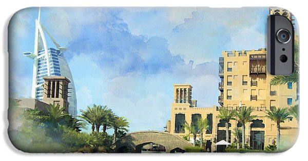 United Paintings iPhone Cases - Madinat Jumeirah iPhone Case by Catf