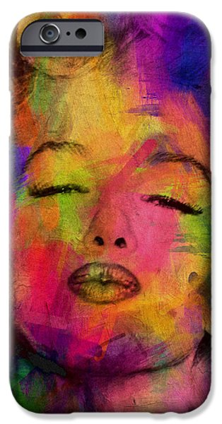 Celebrities Digital iPhone Cases - Marilyn Monroe iPhone Case by Mark Ashkenazi