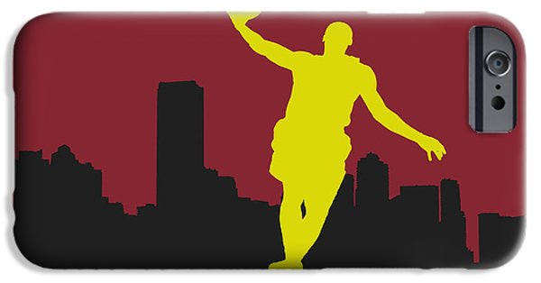 Lebron iPhone Cases - Miami Heat iPhone Case by Joe Hamilton