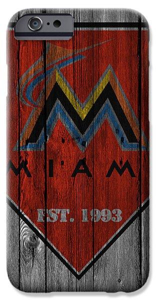Marlin iPhone Cases - Miami Marlins iPhone Case by Joe Hamilton