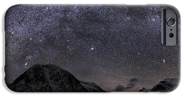 Constellations iPhone Cases - Milky Way over the Valley of Certain Doom iPhone Case by Lisa Hufnagel