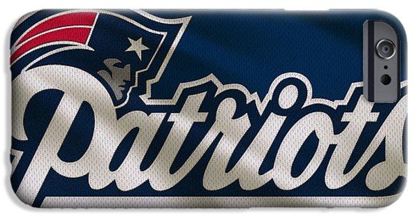 Patriots Photographs iPhone Cases - New England Patriots Uniform iPhone Case by Joe Hamilton