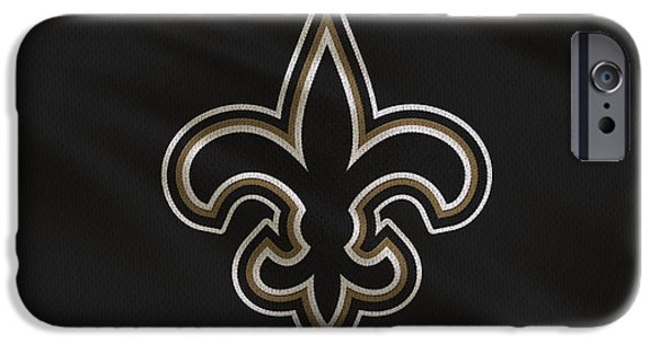 Saint iPhone Cases - New Orleans Saints Uniform iPhone Case by Joe Hamilton