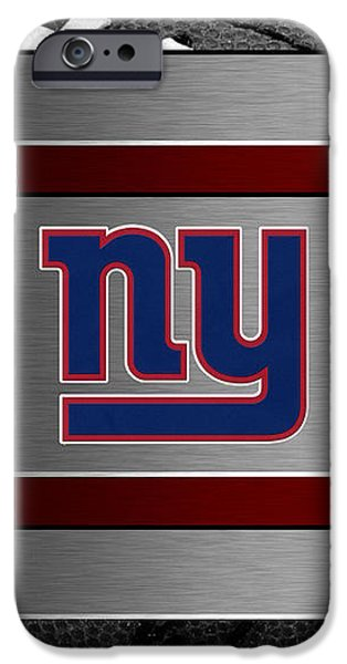 NEW YORK GIANTS iPhone Case by Joe Hamilton